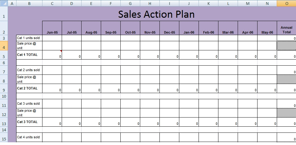 Get sales action plan template xls free excel for Business plan to increase sales template