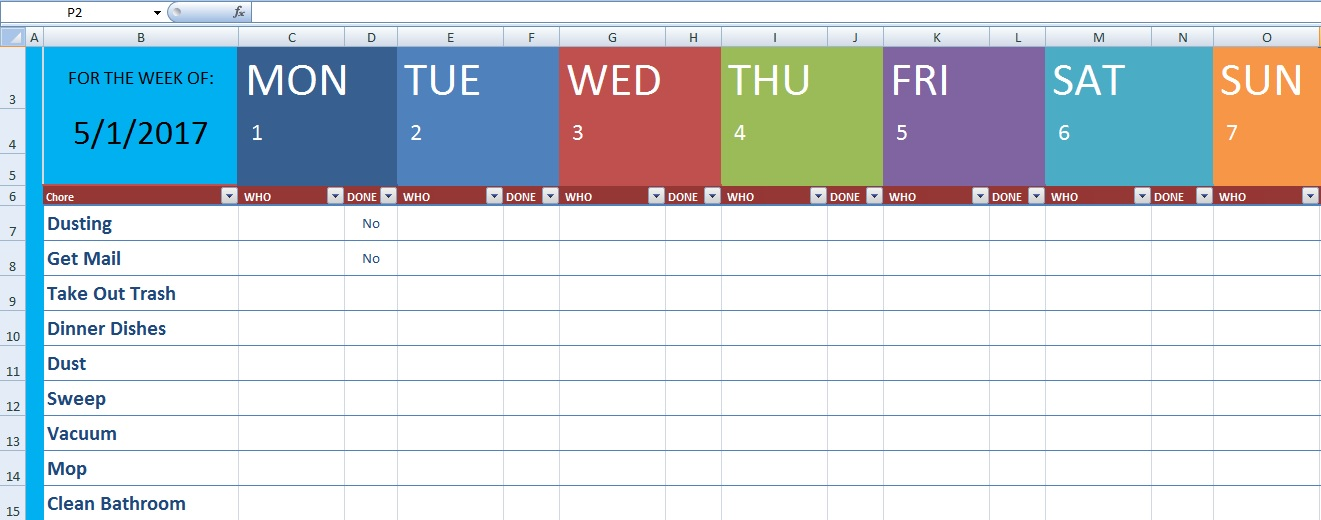 Download Cleaning Schedule Template Xls Free Excel Spreadsheets