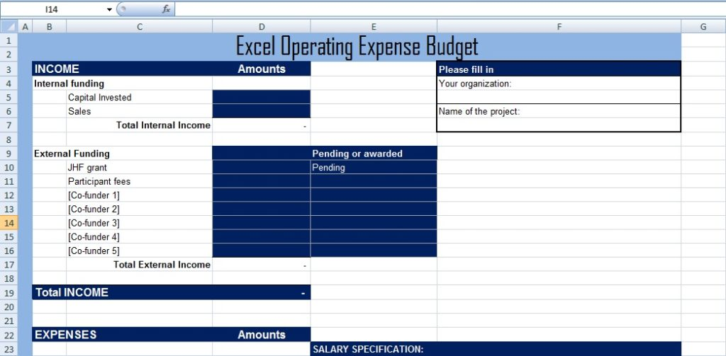 Get Excel Operating Expense Budget Template XLS - Free Excel ...