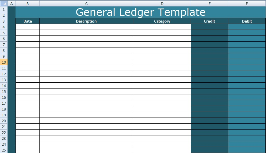 General Ledger Template Excel Xls - Excel Xls Templates