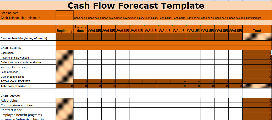 Get risk and issue log template xls excel xls templates for Daily cash flow forecast template