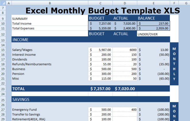 Excel Retirement Template